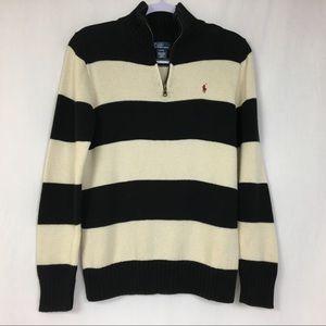 Polo Ralph Lauren Striped 1/4 Zip Sweater